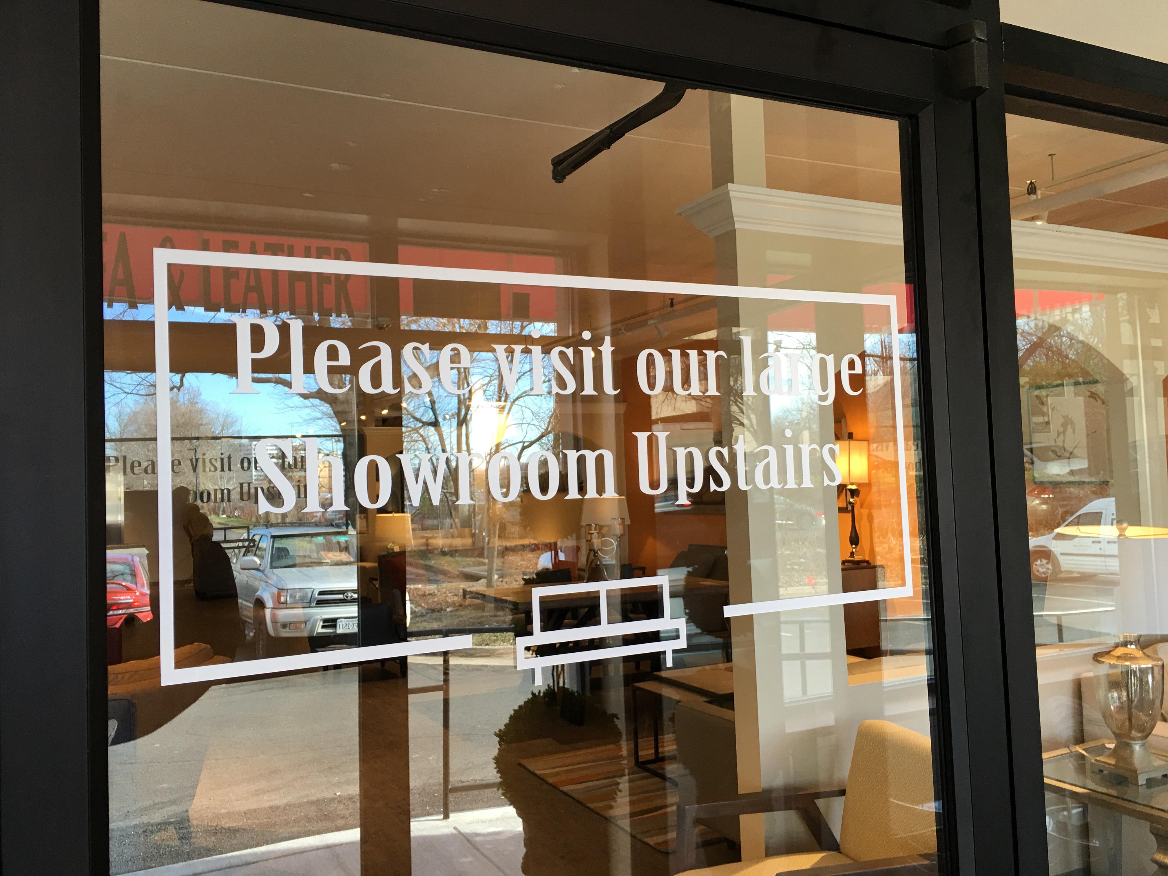 window glass lettering